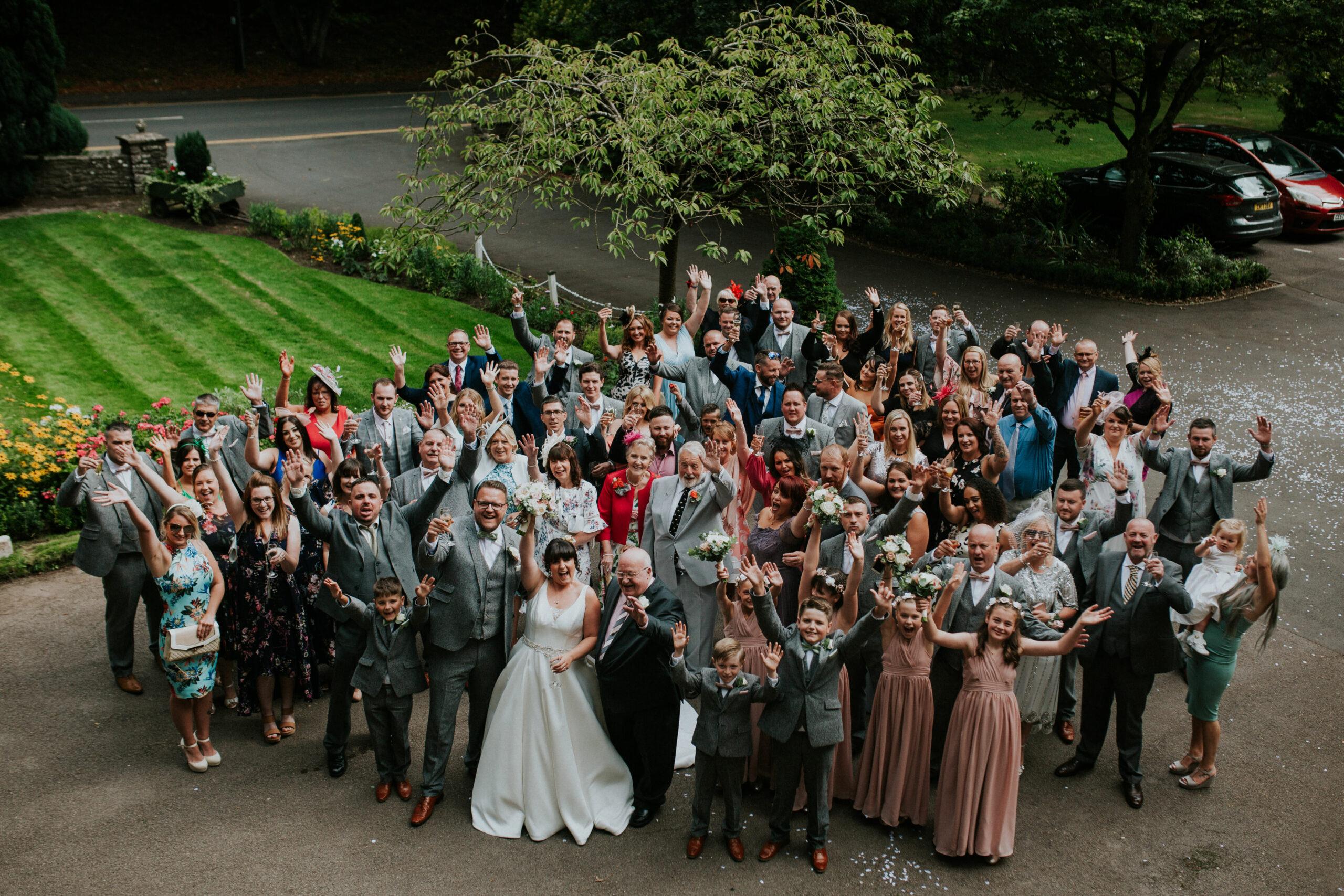 whole wedding group photo