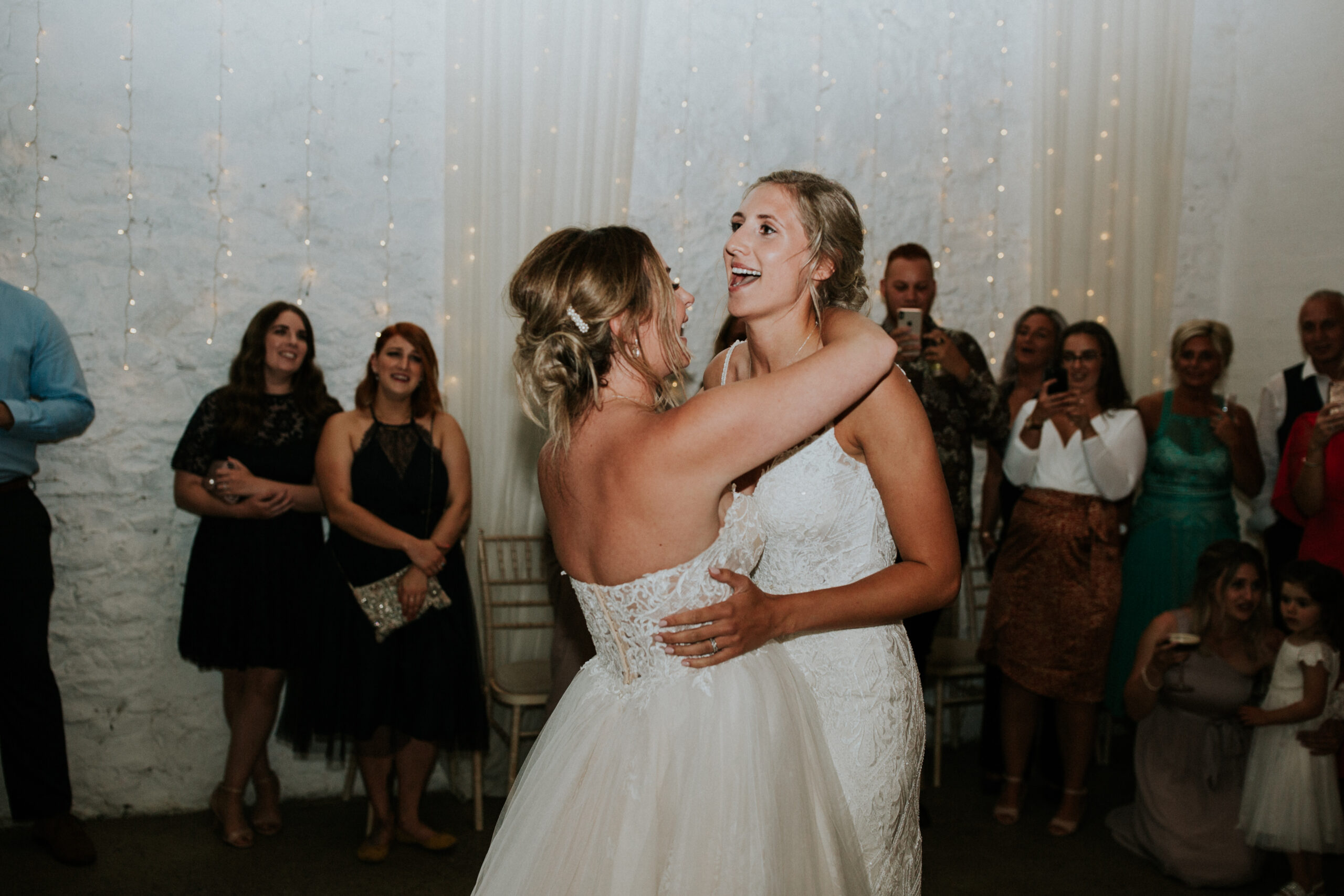 brides dancing their first dance