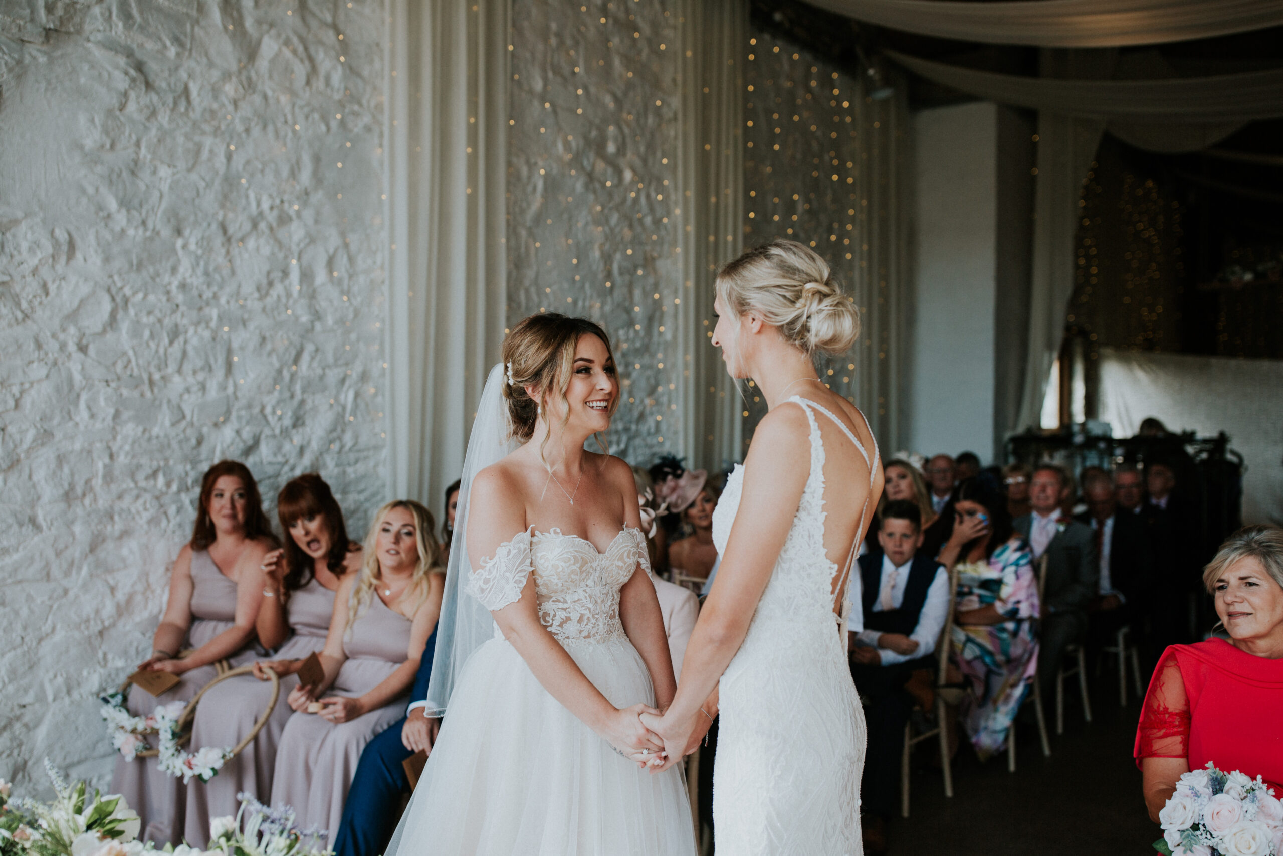 brides exchanging their vows