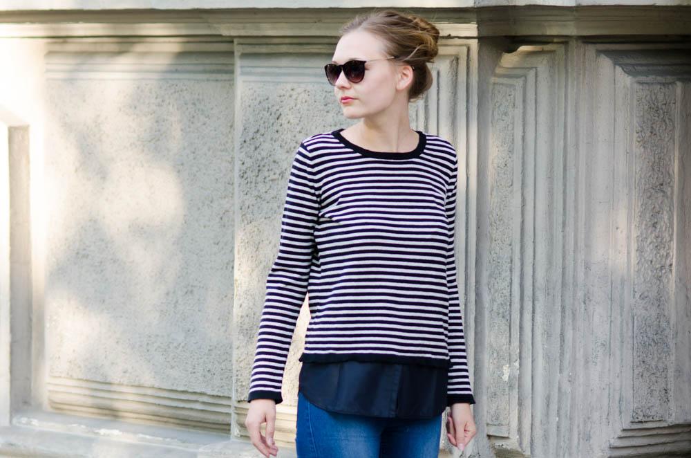 Upcycling-Kleiderschrank: Layer Shirt aus zu kurz gewordenem Pulli von Livera-Mag