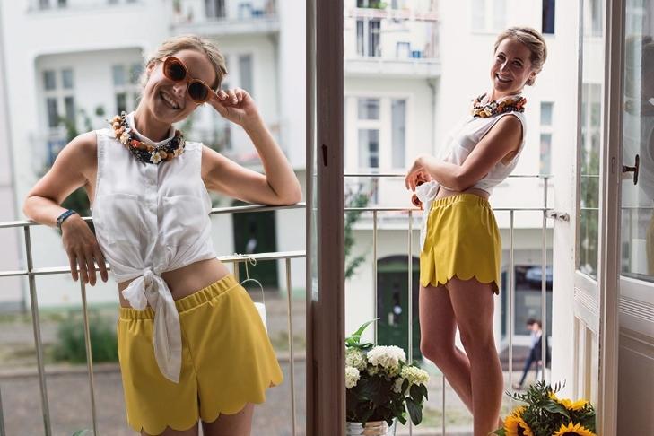 Beitragsbild kostenloses Schnittmuster Shorts Flora von Pattydoo