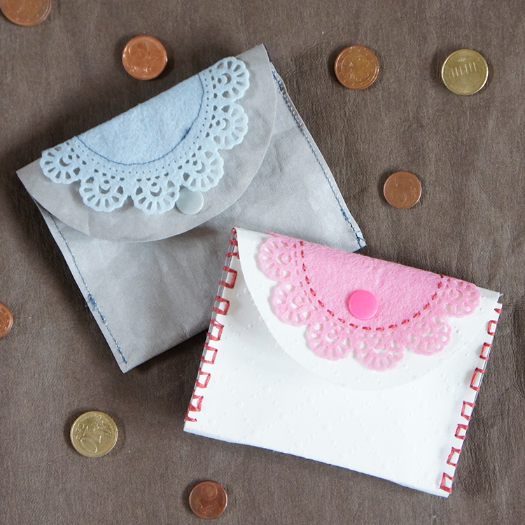 Das kostenlose Schnittmuster für eine Geldbörse von Frau Scheiner ist ideal für Kinder, damit sie ihr Taschengeld aufbewahren.