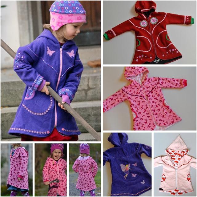 Schnittmuster für einen Mantel mit Rundpasse von Schnabelina - Kostenloses Schnittmuster Mädchenmantel