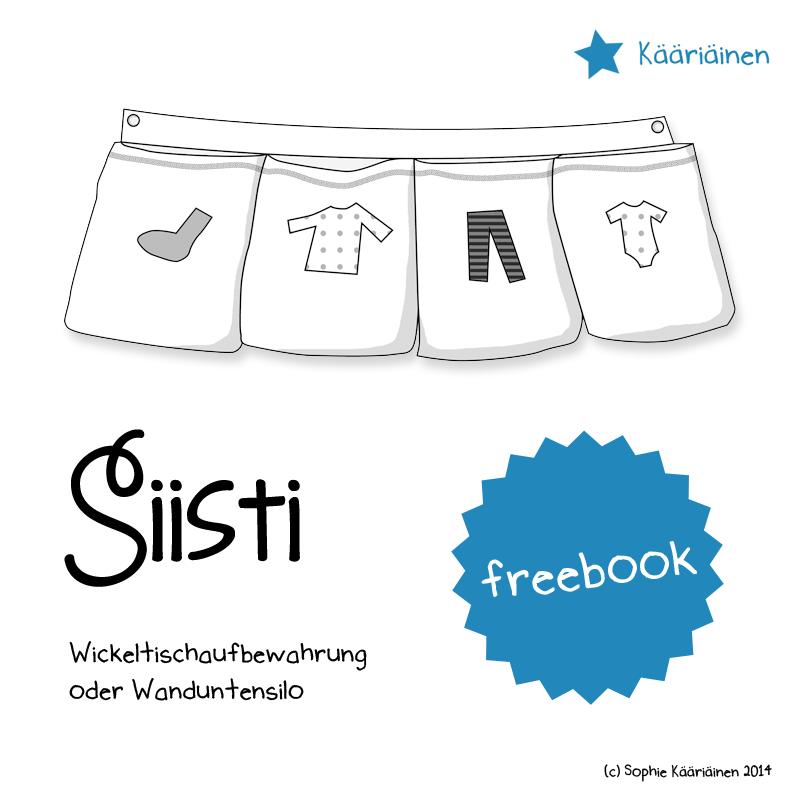 Freebook Cover für das Freebie einer Wickeltischaufbewahrung oder Wandutensilo von Näähglück