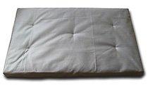 Kostenlose Nähanleitung für eine Meditationsmatte/ Yogamatte/ Zabuton von Nähen-Schneidern - Hier aus weißem Stoff genäht.