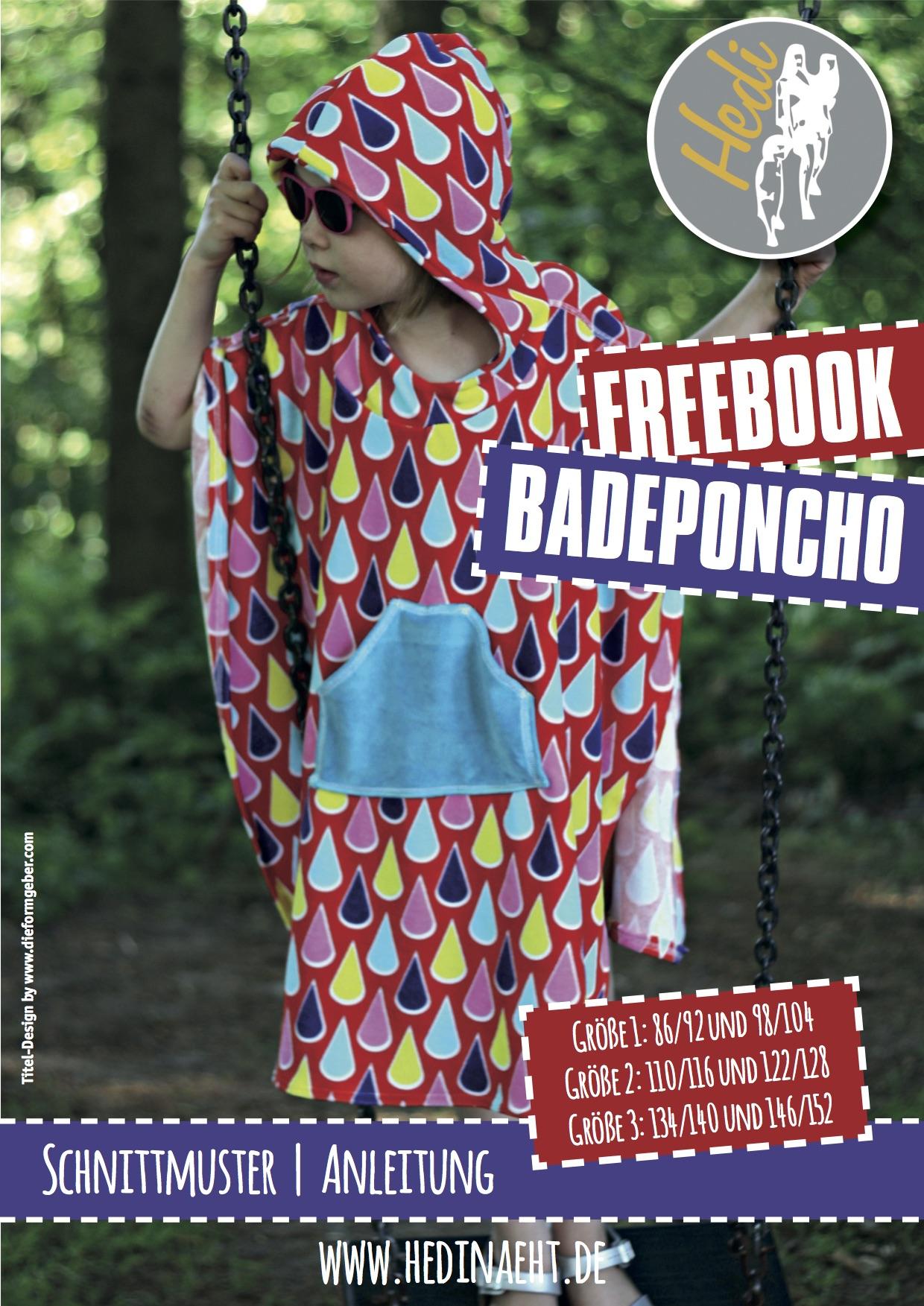 Badeponcho für Kinder (Gr. 86-152) von Hedi näht
