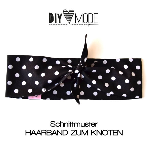 Haarband zum Knoten nach dem Schnittmuster von DIY Mode genäht.