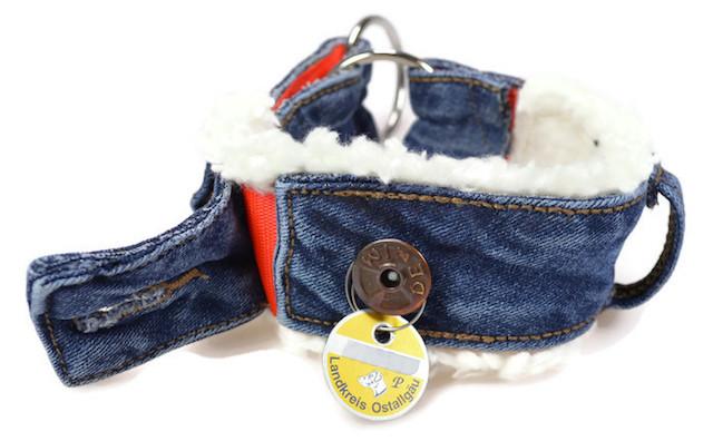 Upcycling Halsband Selbernähen – Jeans Nähtutorial von Pfotenprunk