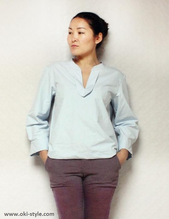 Schnittmuster für eine Damen Bluse von Oki-Style - Elegantes Basic Teil für den Kleiderschrank.