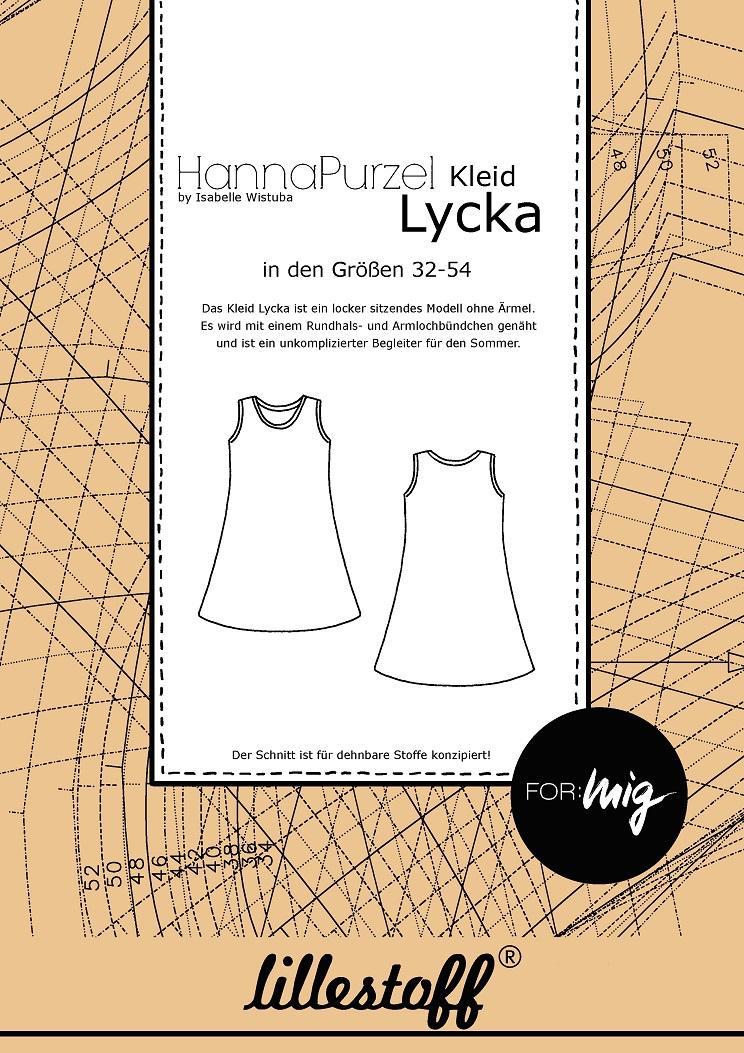 Kostenlose Schnittmuster für Kleid LYCKA von Lillestoff. Das Kleid ist sowohl für schlanke als auch kurvige Frauen konzipiert.