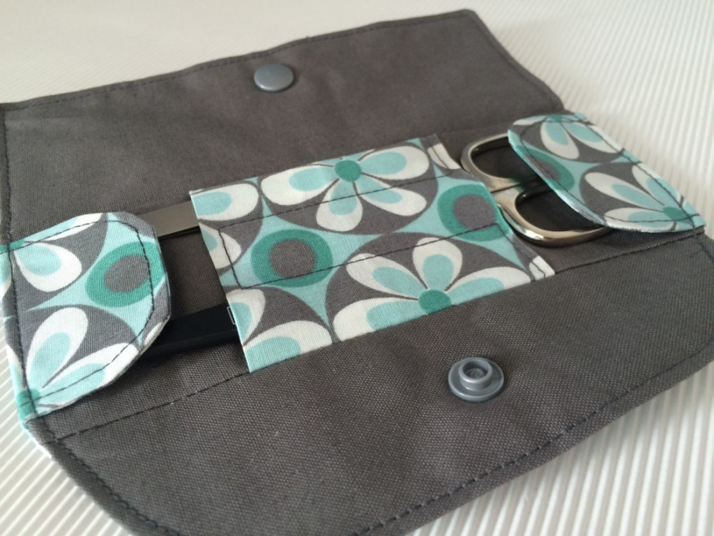 Kostenloses Nähtutorial für eine Maniküre Set Tasche von Selbernähen.net