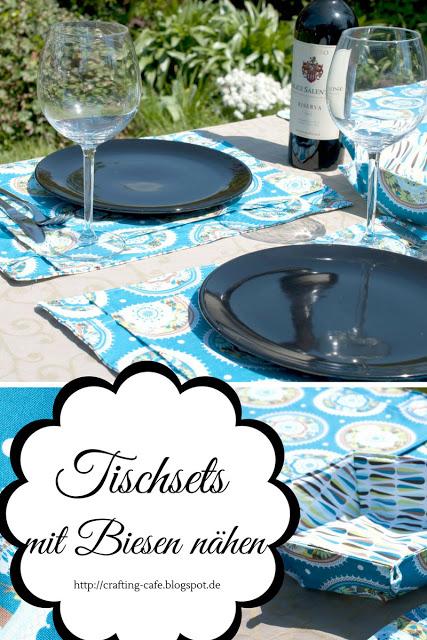 Kostenloses Schnittmuster für Tischsets mit Biesen von The Crafting Café