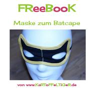 Kostenloses Schnittmuster für eine Batman-Maske von Eva Kartoffeltiger