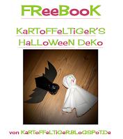 Kostenloses Schnittmuster für Halloween Dekoration von Eva Kartoffeltiger – Geist und Fledermaus nähen