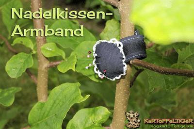 Kostenloses Schnittmuster für ein Nadelkissen-Armband von Eva Kartoffeltiger