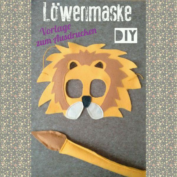 Löwenmaske-Tiermaske-Vorlage