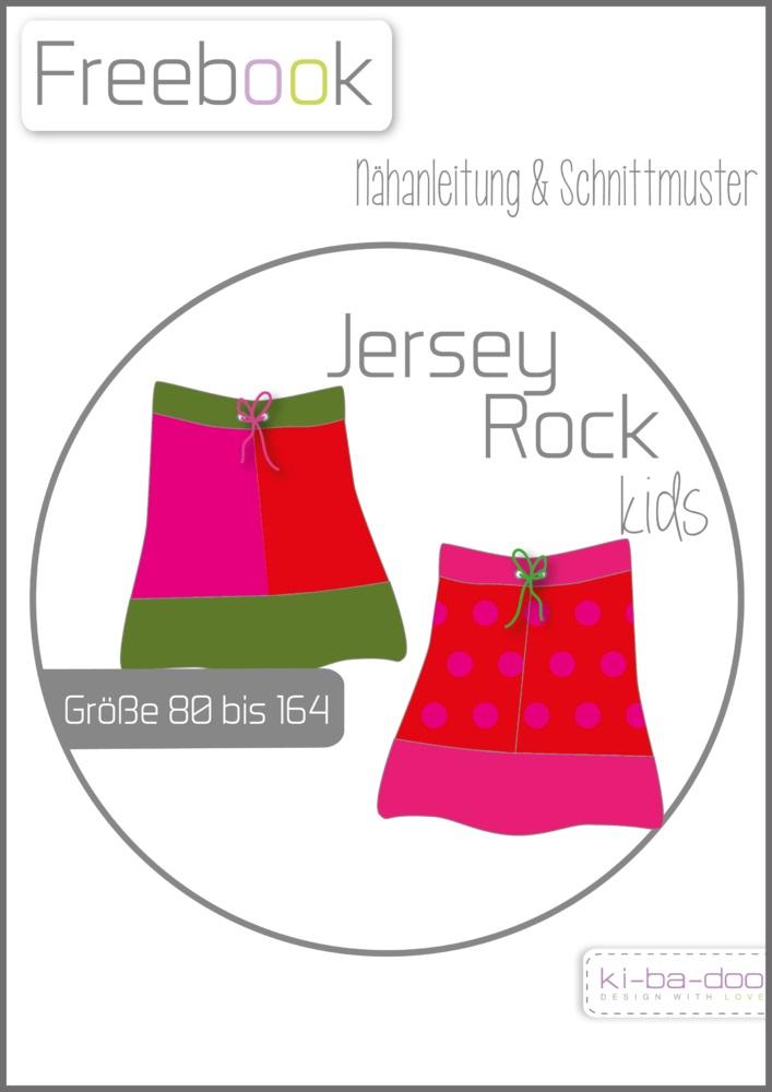 Titelbild für Schnittmuster Jerseyrock in den Größen 80, 86, 92, 98, 104, 110, 116, 122, 128, 134, 140, 146, 152, 158 & 164 von ki-ba-doo.