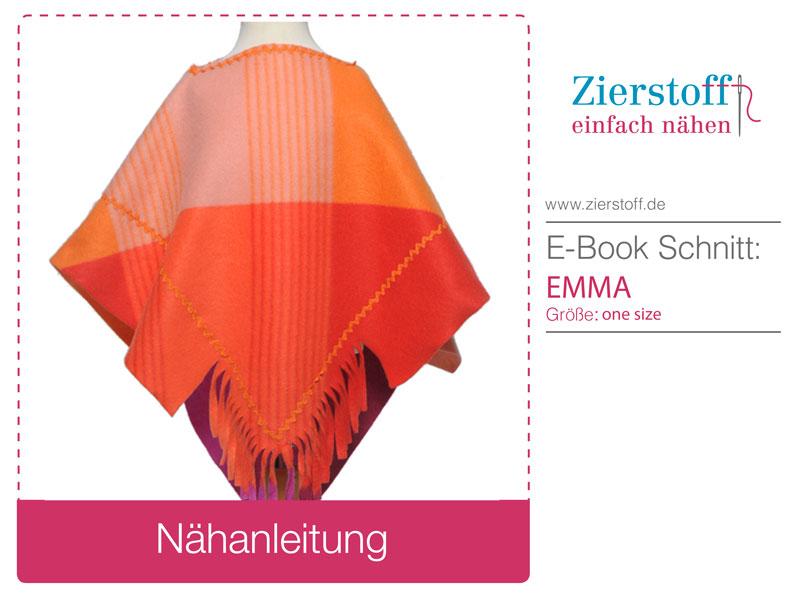 """Kostenloses Nähtutorial für den Poncho """"EMMA"""" von Zierstoff"""