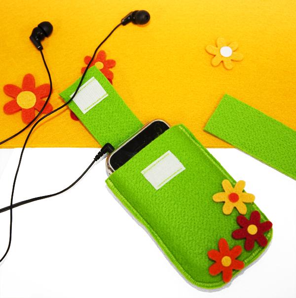Nähanleitung für eine frühlingshafte Tasche für Handy oder iPod zum selbernähen von Buttinette