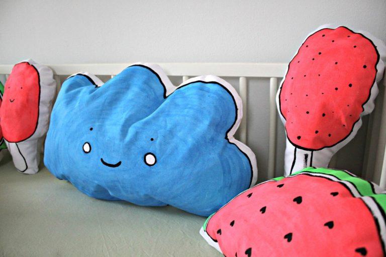 DIY Tutorial für Melonen Teppich & Kissen von Metterschling & Maulwurfn