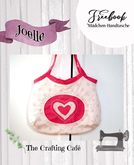 """Gratis Schnittmuster für Mädchen Handtasche """"Joelle"""" von The Crafting Café"""
