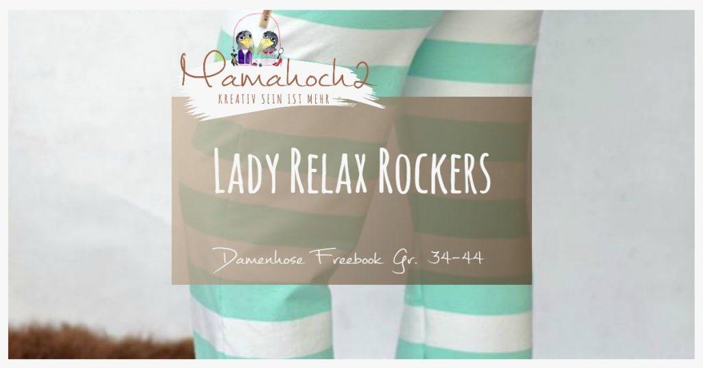 """Kostenloses Schnittmuster für die Jogginghose """"Lady Relax Rockers"""" (Gr. 34-44) von Mamahoch2"""