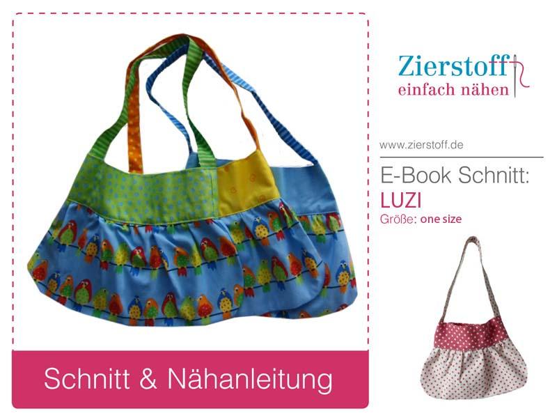 """Schnittmuster für die Kindertasche """"LUZI"""" von Zierstoff"""