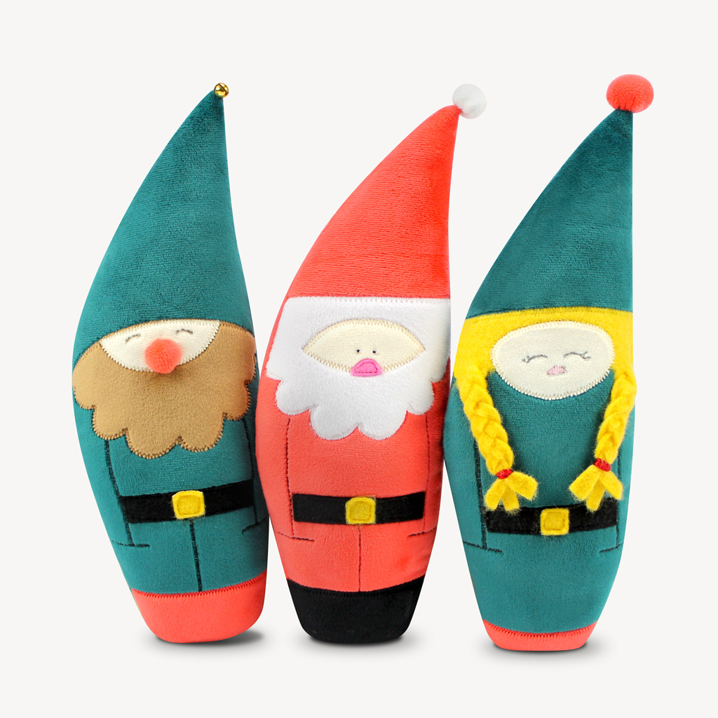 Kostenlose Schnittmuster für Wichtel und Weihnachtsmann von kullaloo