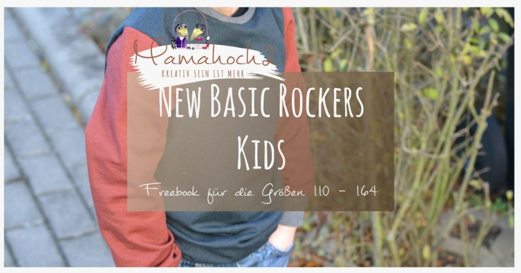 """Schnittmuster Pullover """"New Basic Rockers"""" (Gr. 56-164) von Mamahoch2 – 100% kostenlos"""