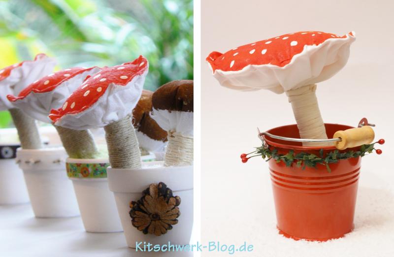 Pilze nähen mit Nähanleitung von Kitschwerk Blog