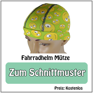 Schnittmuster Fahrradhelm Mütze mit flascher Naht (KU 50-63cm) nähen von Dots Designs