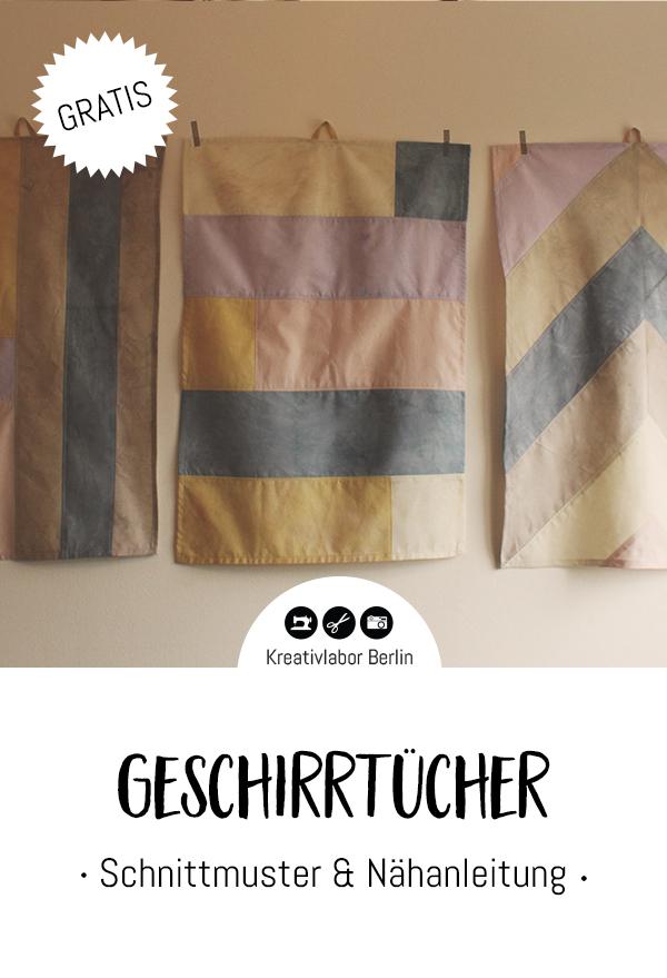 Gratis Schnittmuster Geschirrhandtücher im Patchwork-Look von Kreativlabor Berlin