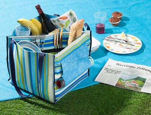 Kostenloses Schnittmuster Picknicktasche von Buttinette