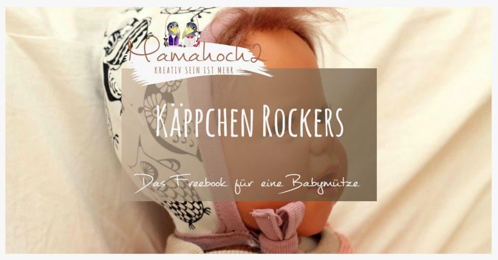 """Schnittmuster Babymütze """"Käppchen Rockers & Co"""" (KU 26-44cm) von Mamahoch2"""