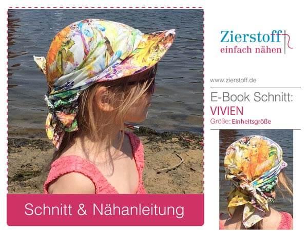 """Gratis Schnittmuster für Kopftuch """"VIVIEN"""" von Zierstoff"""