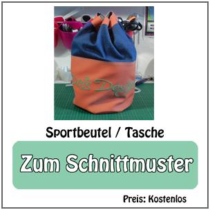 Schnittmuster Sportbeutel bzw. Sporttasche von Dots Designs – 100% kostenlos