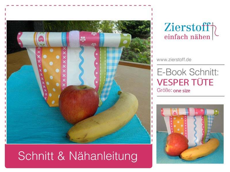 """Nähanleitung Frühstücksbeutel """"VESPERTASCHE"""" von Zierstich"""