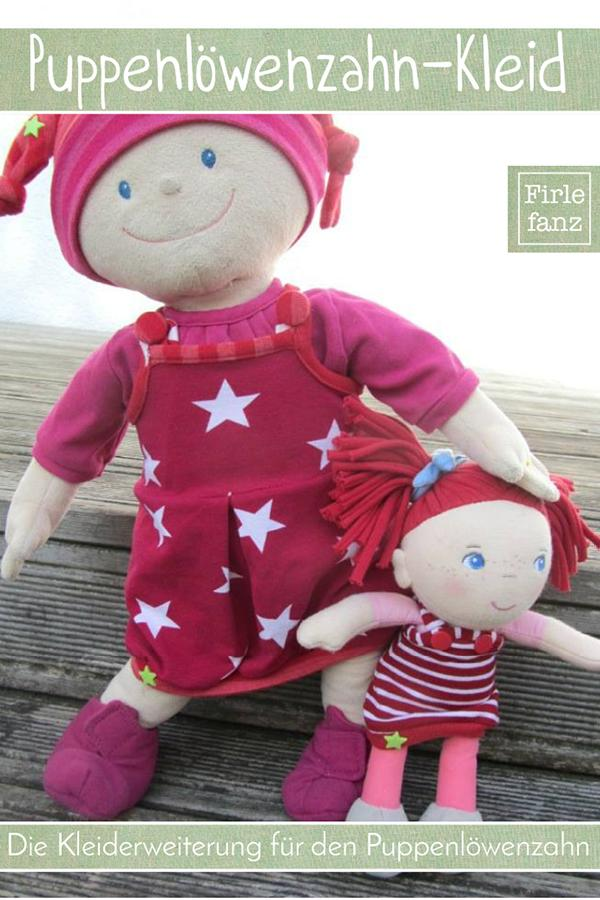 """Schnittmuster Kleid """"Puppenlöwenzahnkleid"""" von Firlefanz für Puppen von 25-50cm"""