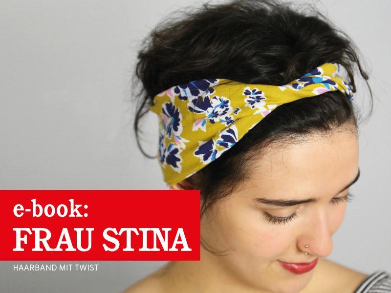Kostenloses Schnittmuster Stirnband FRAU STINA mit Twist in drei Größen von STUDIO SCHNITTREIF