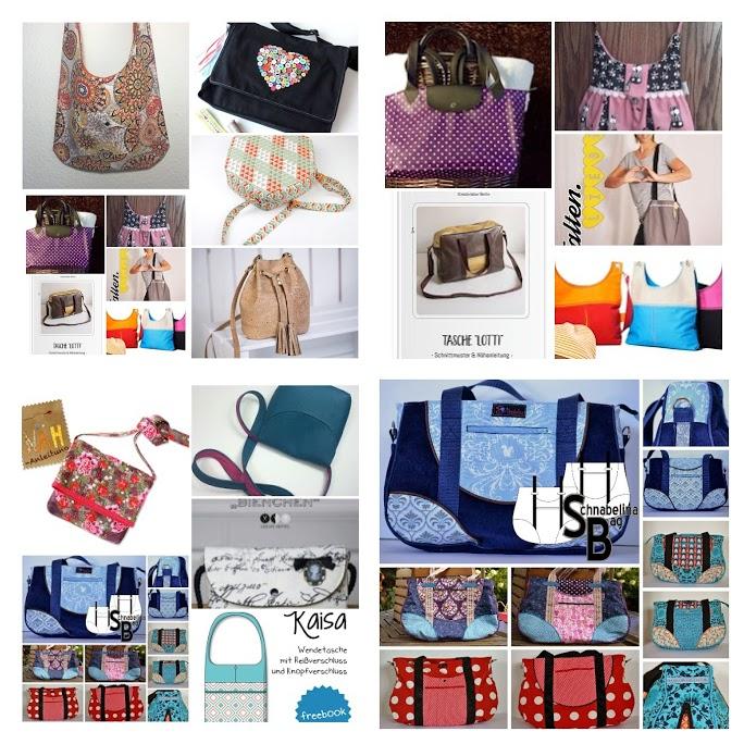 100 gratis Schnittmuster Taschen – Teil 1