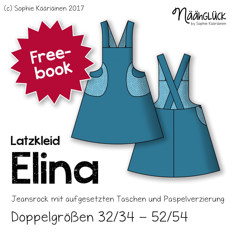 Gratis Schnittmuster Latzkleid Elina (Gr. 32/34-52/54) von Näähglück