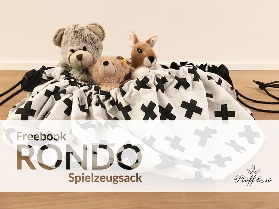 Kostenloses Schnittmuster Spielzeugsack Rondo von Stoff & Co