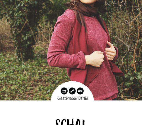 """Schnittmuster Schal """"Stina"""" von Kreativlabor Berlin – 100% kostenlos"""