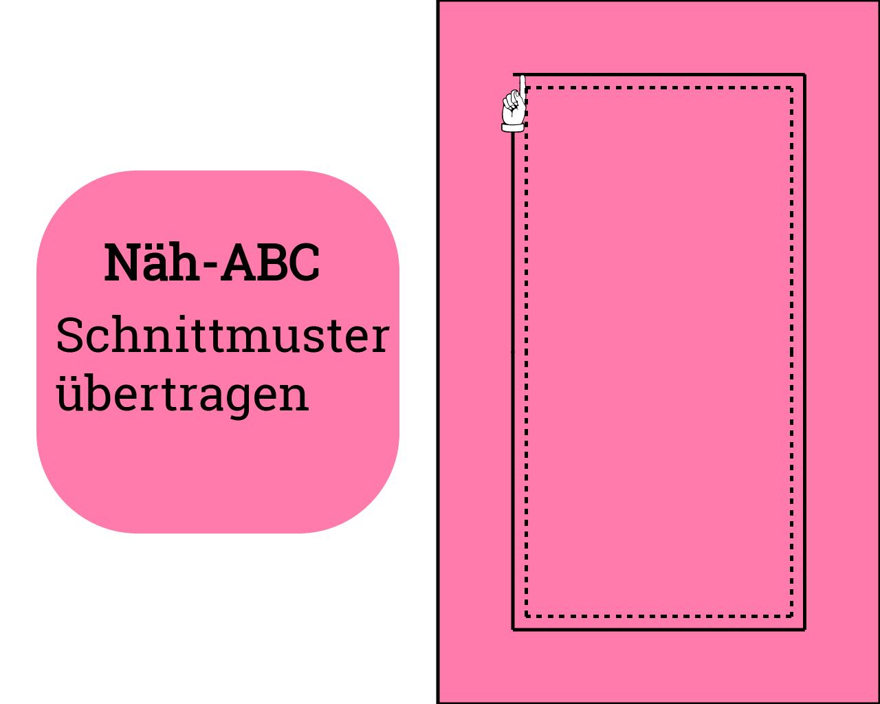 """Teil 2 """"Mit Schnittmustern arbeiten"""" – Schnittmuster übertragen"""