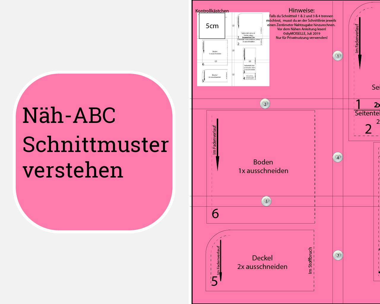 """Teil 1 """"Mit Schnittmuster arbeiten"""" – Schnittmuster verstehen"""