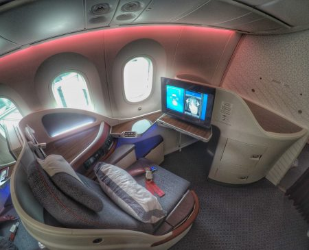 Qatar Business Class on the 787 Dreamliner