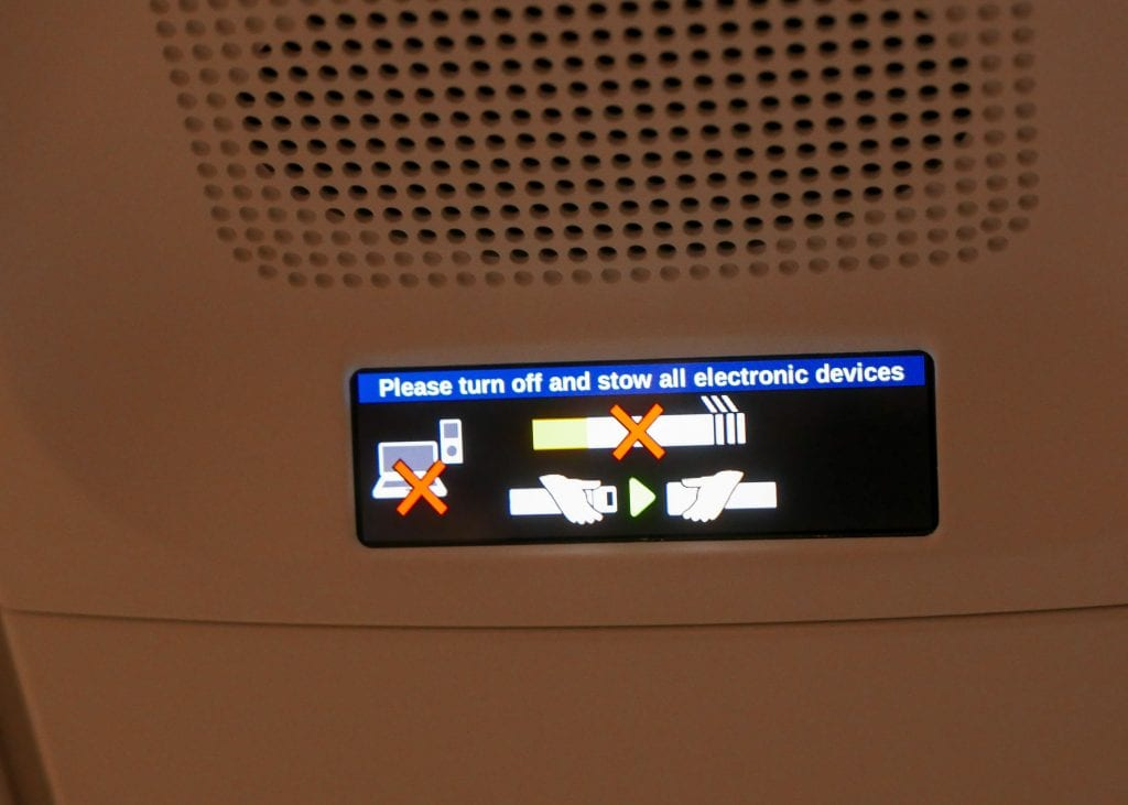 Finally, the overhead warning signs have entered the modern era in glorious HD ;)