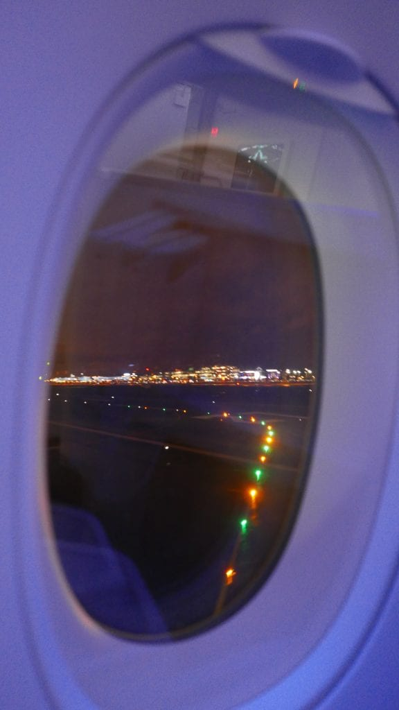 Turning onto the runway: as seen from the window