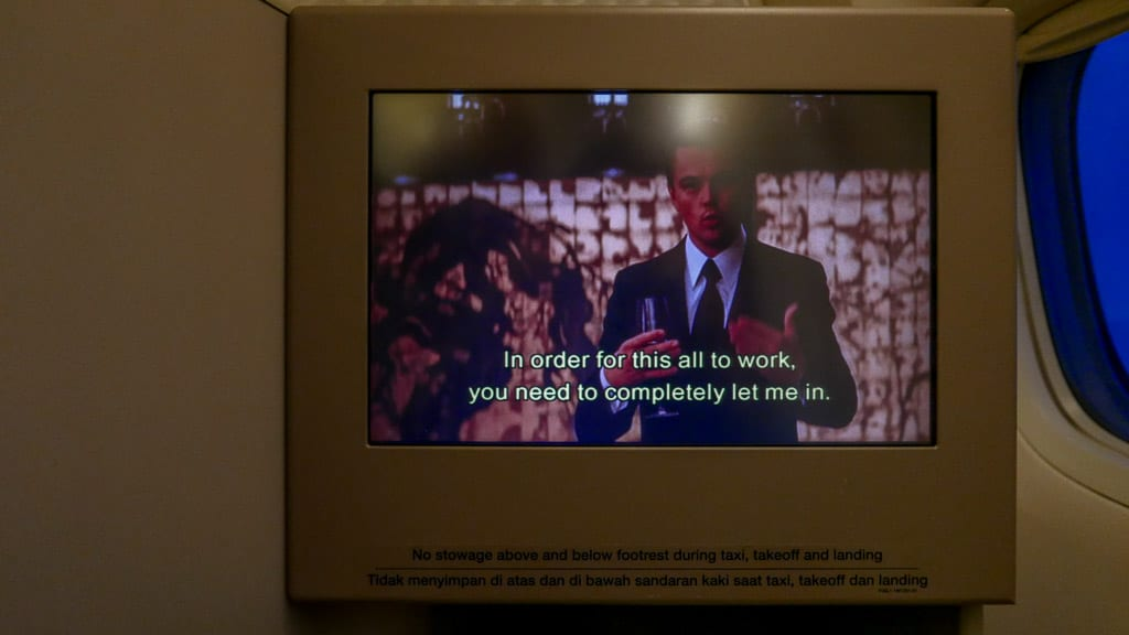 I couldn't resist watching Inception again on the IFE