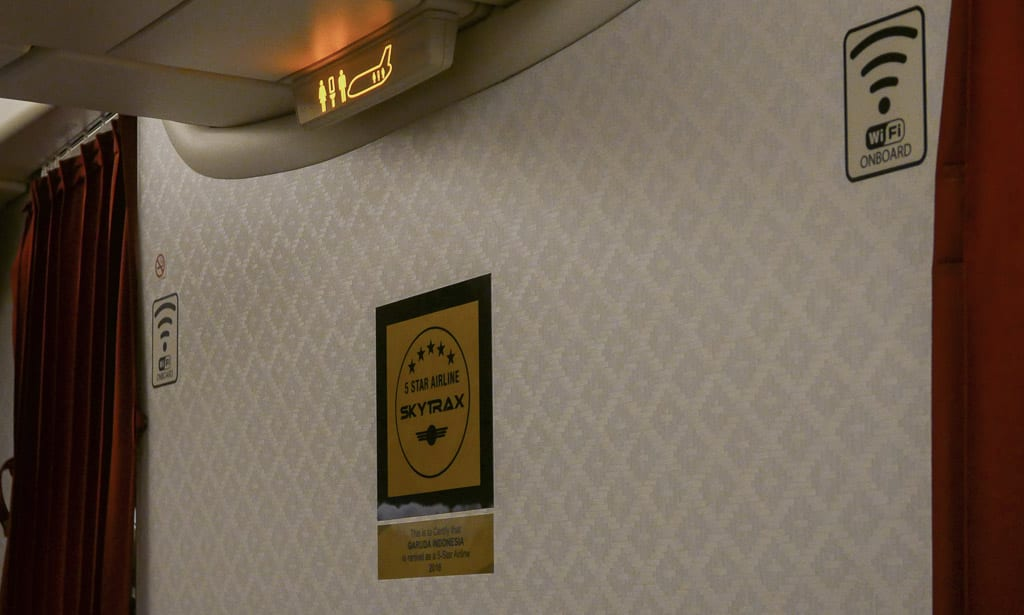 Although Garuda offers paid wifi onboard